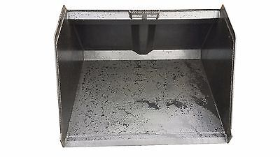 """48"""" SNOW AND LITTER BUCKET SKIDSTEER ATTACHMENT FREE SHIPPING"""