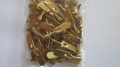 100x Flachsteckhülse Kabelschuh Messing 6,3mm für 1-2,5 mm²