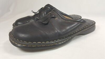 (Born Women's Black Leather Mule Clog Slide On Shoes Bow Mexico Size US 8, EU 39)