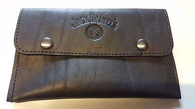SOFT NAPPA LEATHER - JACK DANIELS (a)- Tobacco pouch - BLACK leather