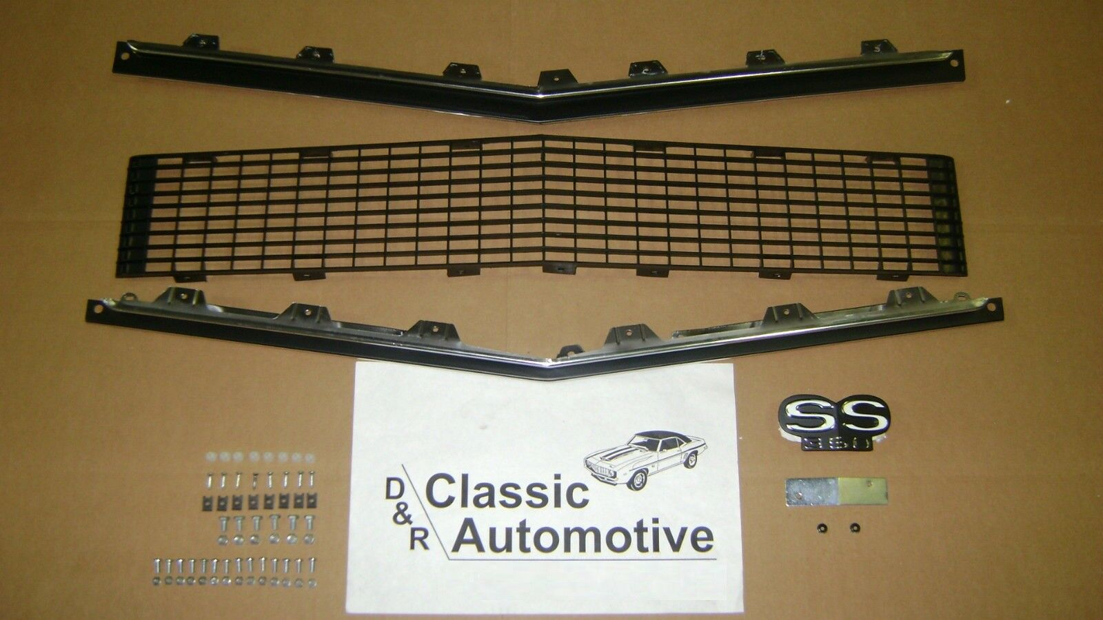 Grill Kit 71pc w/ Moldings/Hardware/SS350 Emblem 67 68 RS Camaro **In Stock**
