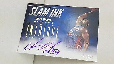 2012-13 Panini Intrigue Slam Ink #31 JASON MAXIELL /299 ! (Pistons)