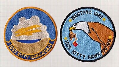 """USN FLIGHT JACKET PATCH GROUPING WESTPAC 1981 & USS KITTY HAWK CV-63,  ± 5 X 5"""" for sale  Shipping to United States"""