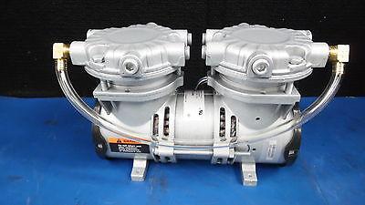 Gast Two Stage Rocking Piston Air Compressor Pump Laa-v118-hd 230v .5 A 5060hz