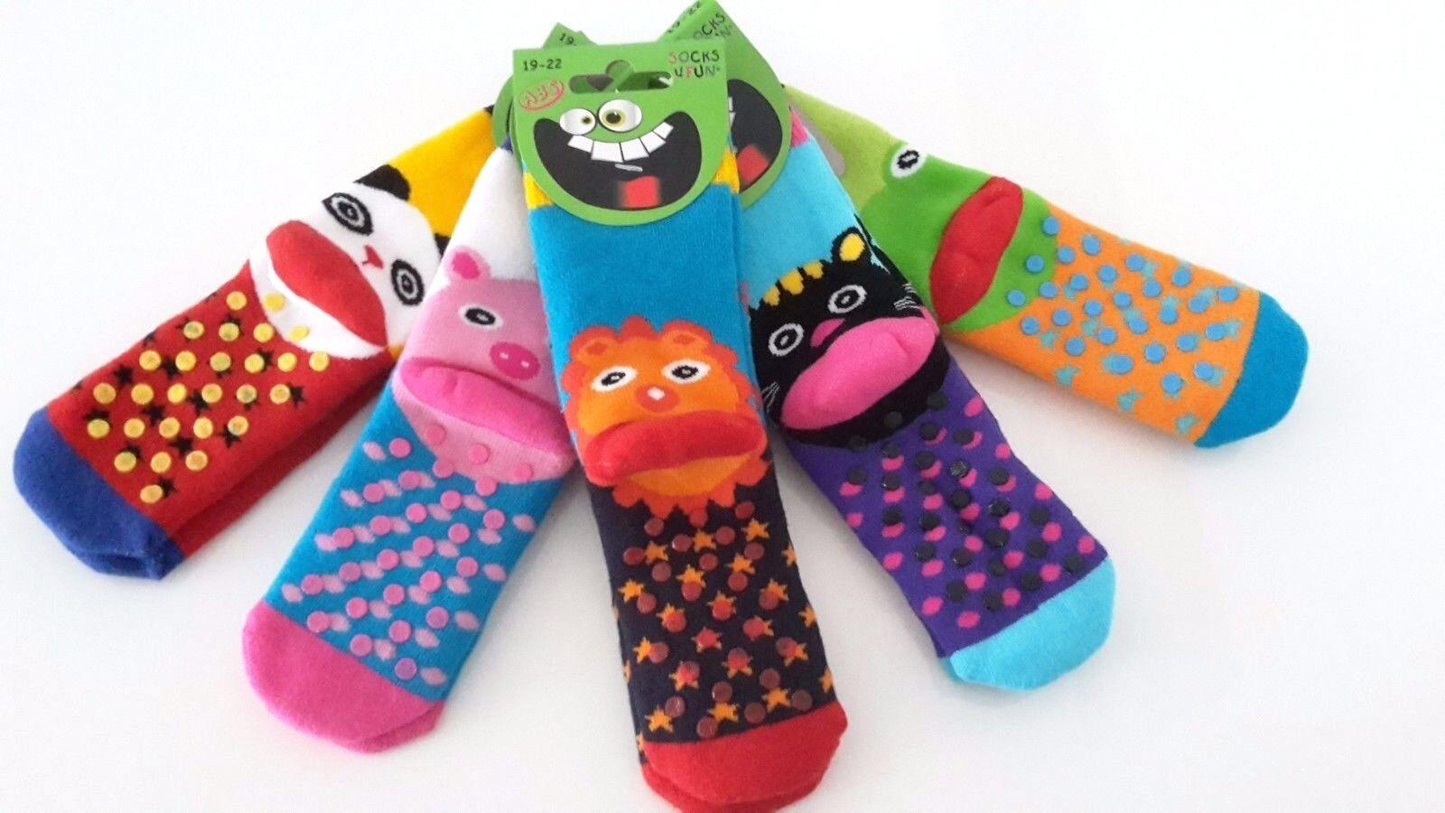 3 Paar Kindersocken Baby Thermo Socken Frottee  ABS/Stopper-Socken Vollfrottee