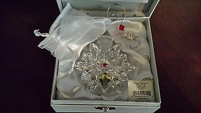 Waterford Crystal 2011 Snowflake Wishes For JOY Ornament  1st Edition MIB