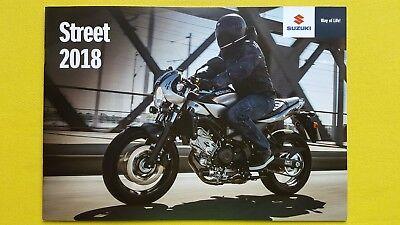Suzuki Street GSX-S1000 GSX-S750 S125 SV650X GSX motorcycle brochure 2018 MINT