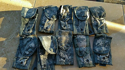 LOT OF 10 NEW MILITARY SURPLUS ACU MOLLE II 9MM MAG POUCH