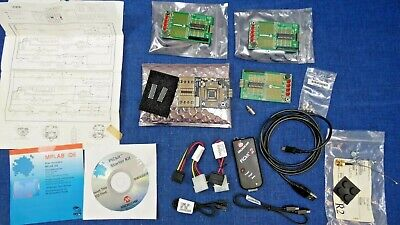 Lot Pickit 2 Starter Kit Programmer Debugger Low Count Dem Board Disks Cables