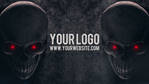 I will create a SKULL wall horror Halloween video intro