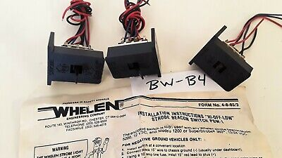 Lot Of 3- Whelen Psw-1 Hi- Off- Low Switches