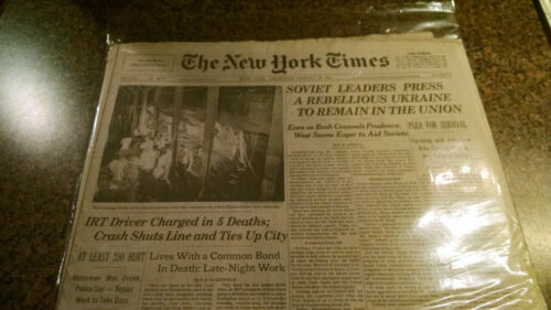 NYC New York City Transit Subway Newspaper Union Square Derailment NY Times