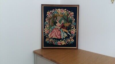 "LARGE VINTAGE ""TRADITIONAL"" DESIGN TAPESTRY, FRAMED BUT UNGLAZED. GOOD CONDITION"