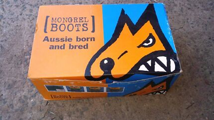 Brand New Mongrel Work Boots Black Sprts Shoe Steel Toe Safety 35 Minto Campbelltown Area Preview