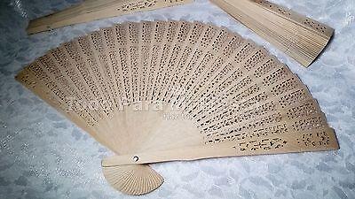 12 Wedding Party Favors Fan Wood Hand Quinceanera Abanico de Madera Boda, usado segunda mano  Embacar hacia Argentina