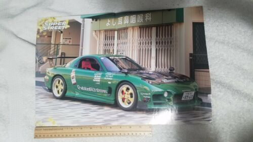 USED Super Street Reversible Poster Honda S2000 Mazda RX7 FD Vtec Rotary