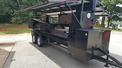Mega T Rex Camp Chef Roof Bbq Smoker Grill Trailer Food Truck Business Storage