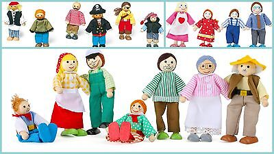 Bendy Pirate Farm Family Boy Dolls Action Figures Flexible Wooden Dolls Costumes - Pirate Family Costumes