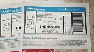 2 tickets to The Hollies in Sydney Saturday 17 Feb Warners Bay Lake Macquarie Area Preview