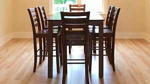 Table and 8 chairs $225.00