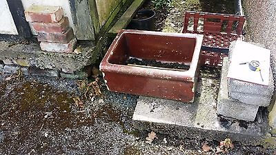 Retro Antique Brown Stone Sink Trough Make Awesome Planter 25