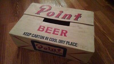 Point Beer Flat Top Can Case Box Vintage Crate Sign