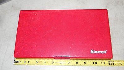 Starrett Micrometer Storage Case  6 Micrometer Case  1 Case  New