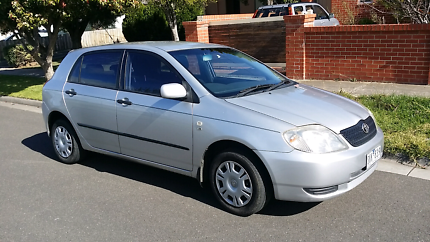2003 toyota corolla long reg&rwc