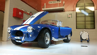G 1:24 Scale 1965 Shelby AC Cobra 427 SC Blue Detailed WELLY Diecast Model Car