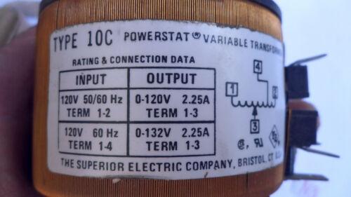 HOBART TYPE 10C POWERSTAT VARIABLE TRANSFORMER OUTPUT 0-120V