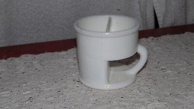 Vintage Antique Milk Glass Shaving Mug Patent July 16, 1867