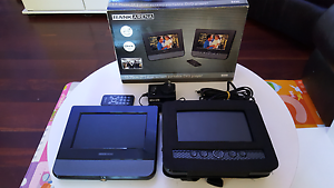 "RANK ARENA 7"" DUAL SCREEN PORTABLE DVD PLAYERS + 2 HEADPHONES Hazelbrook Blue Mountains Preview"