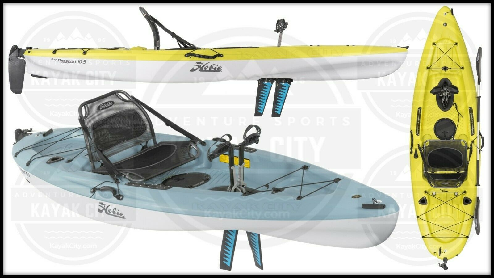 2019 Hobie Mirage Passport 10.5 - Pedal Fishing Kayak