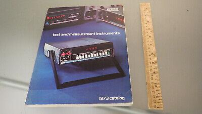 Vtg Original 1973 Fluke Electronics Test Measurement Equipment Catalog 235 Pages