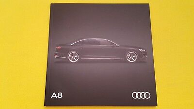 Audi A8 long wheelbase LWB sales brochure catalogue January 2018 MINT A 8