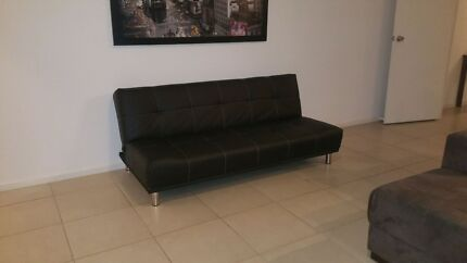 Black vinal sofa bed  Andrews Farm Playford Area Preview