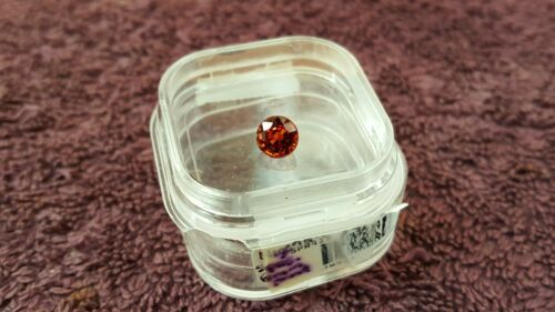 "JTV 6mm Round Red/Orange Spessartite Garnet VVS Clarity 1.60ct ""Great Color"""