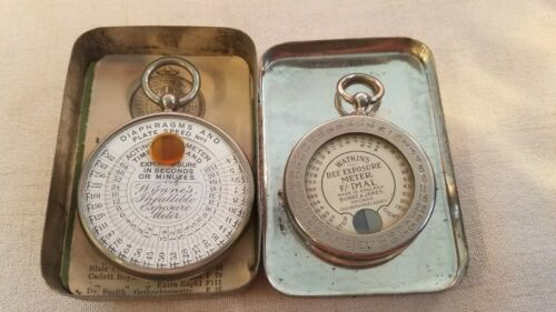 2 VINTAGE EXPOSURE METERS WATKINS BEE & WYNNE