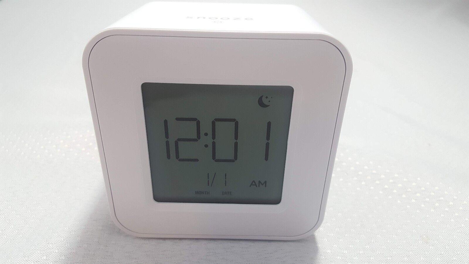 Capello Toc Clock Digital Alarm Clock Square Face White CA-5