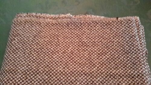 100% wool fabric - brown and cream - awesome quality
