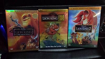 Lion King DVD Trilogy Bundle Lion king 1, 1/2, Simba's pride Platinum New