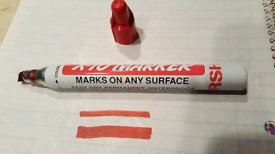 New Marsh- X-10 Permanent Marker-red. Tip Size Medium-1