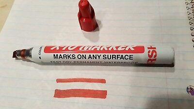 New Marsh- X-10 Permanent Marker-red. Tip Size Medium-1