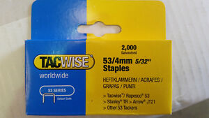 1 Box (2,000) Tacwise 0333. 53 Series 4mm Staples