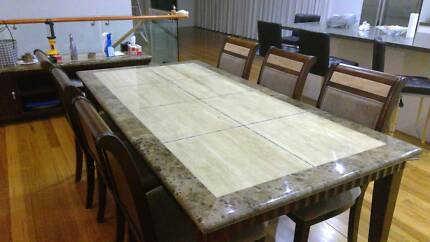 Dinning table and chairs (7 piece)