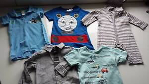 Lot of 5 baby rompers and tops - 3 to 9 months Merrylands Parramatta Area Preview