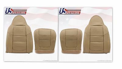 2001 Ford F-250 F-350 Lariat Front Bottoms & Tops Leather Seat Covers TAN - Ford F250 Seat