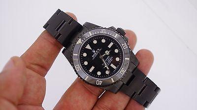 Rolex Submariner No-Date 114060 Steel Black Dive Ceramic Watch Black PVD Finish
