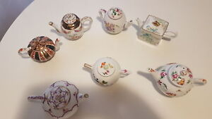 Porcelain Tea Pot Collection from Franklin Mint