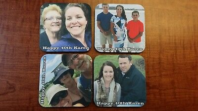 photo personalized coaster set - Personalized Photo Coasters